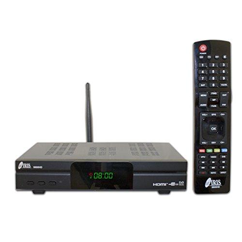 IRIS 9800 HD - Récepteur de télévision par satellite (Full HD, WiFi) couleur noire