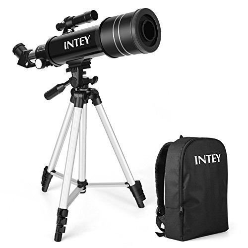 INTEY - Télescope astronomique ultra-transparent de 70 MM pour télescope Celestron adapté à la visualisation terrestre et à l'astronomie (avec un sac à dos)