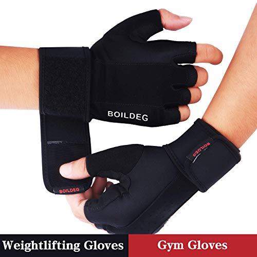 Gants de gymnastique d'haltérophilie, protection complète de la paume de la main et poignée antidérapante extra respirante, pour les exercices d'exercice Poids pour haltérophilie(L)