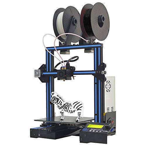 Imprimante Geeetech A10M 3d avec mélange de couleurs d'impression, conception d'extrudeuse double, détecteur de métaux à filament et rupture de résumé de fonction, kit de montage rapide Prusa I3.