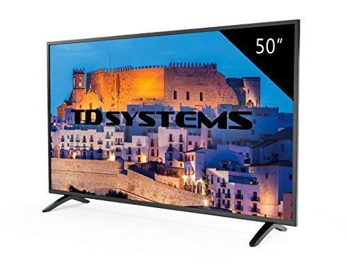 TD Systems K50DLM8F - Téléviseur DEL Full HD 50 pouces, résolution 1920 x 1080, 3x HDMI, VGA, lecteur et enregistreur USB