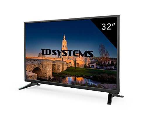 TD Systems K32DLM7H - TV LED 32' (HD, 3X HDMI, VGA, 2X USB Player et enregistreur) couleur noir