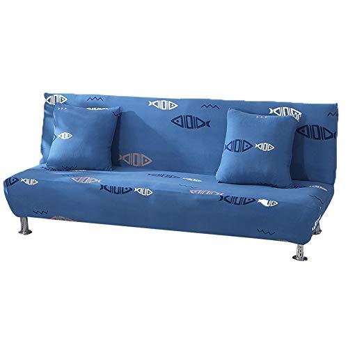 Canapé 3 places imperméable à l'eau Clic clac 3 places, Housse pour coussin élastique imprimé floral pour canapé-lit pliant sans accoudoirs, M
