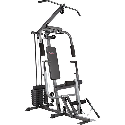 TecTake Multiestation bodybuilding machine | Module papillon | Étrier de jambe | 8x4,5 kg | Bar - différents modèles (Typ 2 | No. 402757)