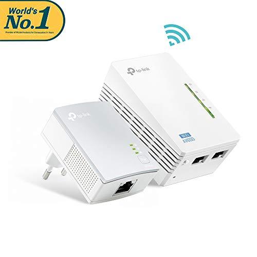 TP-Link TL-WPA4220 KIT - 2 adaptateurs de communication Powerline (WiFi AV 600 Mbps, PLC avec WiFi, Extender, répéteurs réseau, amplificateur et couverture Internet, 3 ports, câble Ethernet)