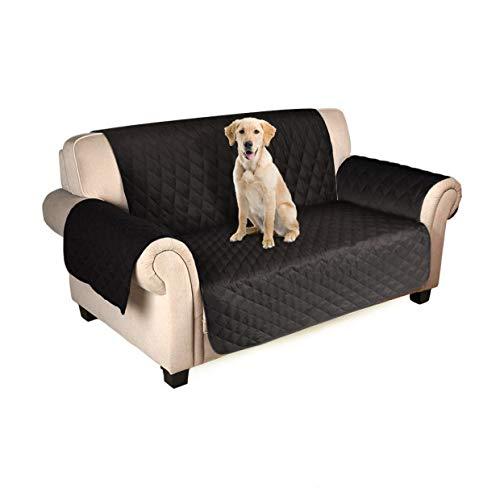 FREESOO Housse de canapé 2 places Housse de canapé Housse de canapé matelassée Canapé imperméable à l'eau Fauteuils Canapé protecteur pour chiens Chats 116 * 180cm