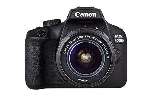 Canon EOS 4000D Caméra avec objectif EF-S 18-55mm II, 18 MP, noir