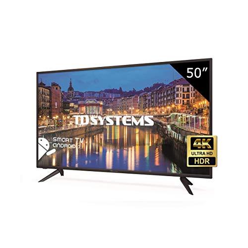 TD Systems K50DLHH8US - Téléviseur intelligent 4K Ultra HD 50 pouces, résolution 3840 x 2160, HDR10, 3X HDMI, VGA, 2X USB, Smart TV.