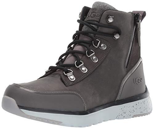 UGG Bottes en cuir imperméable gris foncé UGG Bottes en cuir gris foncé, bottes pour hommes, 43 gris