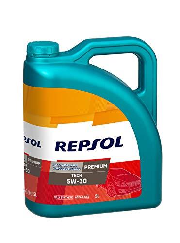 Repsol Premium Tech 5W30 Huile moteur pour véhicule léger, 5 L