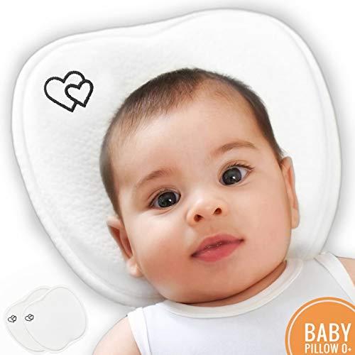 Oreiller bébé Plagiocephaly 100% coton neuf 2019 Coussin anti-bascule Coussin bébé Anti-soffoco Coussin tête de bébé Coussin mousse à mémoire Couleur blanc Coussin berceau Coussin bébé Wedge djAmurstore