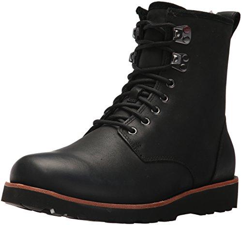 UGG Hommes Hannen High Boots Hommes UGG Cuir Noir 43 Noir