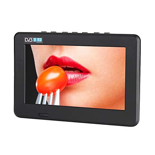 11,6 pouces TV portable, petit téléviseur LED avec DVB-T/T2 DVT Deux haut-parleurs TV numérique avec 1500 mAh Piles rechargeables et télécommande pour caméra, cuisine, caravane, voiture. (7')