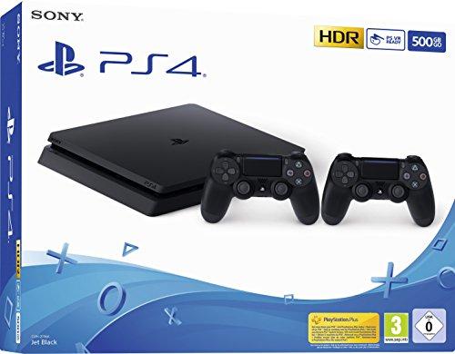 Playstation 4 (PS4) - Console 500 Go + 2 manettes Dual Shock 4 (Amazon Exclusive Edition) - nouveau châssis F