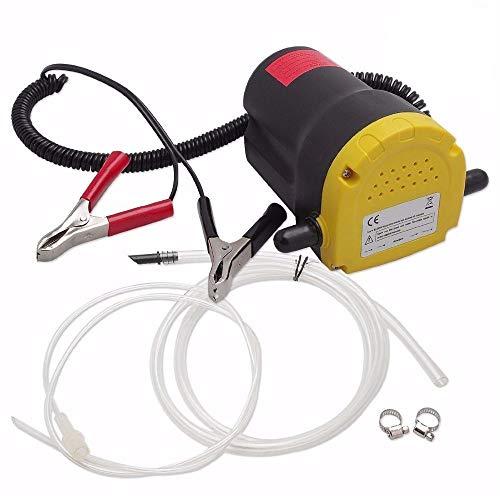 Pompe d'extraction d'huile DC 12V 60W - Pompe de transfert de carburant et d'huile pour auto, moto, quad, fourgonnette, etc.