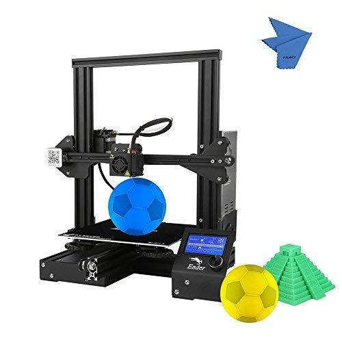 Imprimante 3D Creality 3D Ender-3 3D DIY Facile à assembler Format d'impression 220 * 220 * 250 mm avec prise en charge de l'impression de curriculum vitae PLA, ABS, TPU