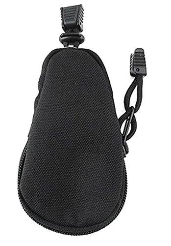 Fablcrew Étui à clés en nylon imperméable avec fermeture à glissière et corde 12*7cm noir