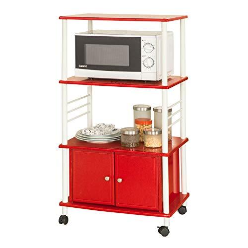 SoBuy Chariot de cuisine, étagère de cuisine, étagère sur roulettes, étagère de cuisine, FRG12-R,EN