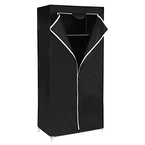 SONGMICS Armoire en tissu anti-poussière 160 x 75 x 45 cm Noir RYG83H