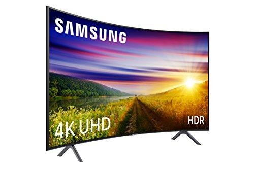 Samsung 55NU7305 - 55' 4K UHD 4K UHD Smart TV HDR (Slim Curved Display, Quad-Core, 3 HDMI, 2 USB), couleur noir (noir de carbone)