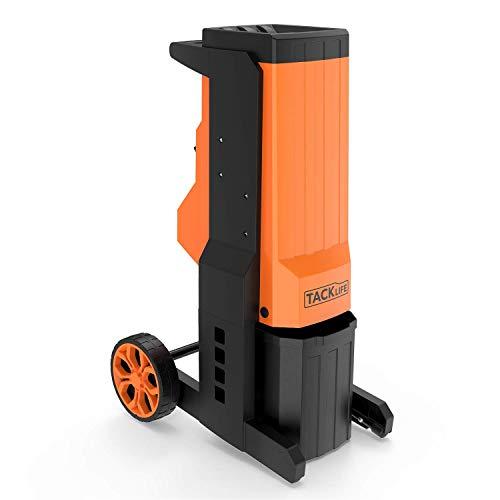 TACKLIFE Broyeur électrique de jardin électrique, 2500 W Capacité de broyage maximale 40 mm, Double lame interchangeable en acier spécial, PWS02A