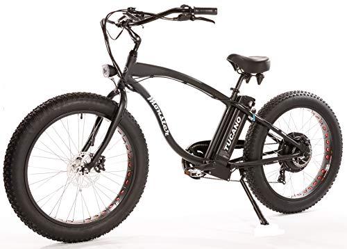 Tucano Monster 26 Naked (Noir). Bicyclette électrique 26' - Moteur : 1.000W-48V - Freins hydrauliques - Vitesse maximale : 42 Km/h - Batterie : 48V 12Ah (Noir) Nue