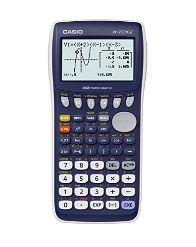 CASIO FX-9750GII-LC-EH - Calculatrice graphique, 21,3 x 87,5 x 180,5 mm, bleu / gris
