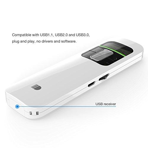 Wireless Presenter, Wireless Presenter Pointeur Laser Doosl, 2.4GHz Powerpoint Presentation Remote Control