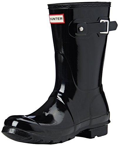Hunter Short Gloss, chaussettes pour femmes, noir, 37 EU