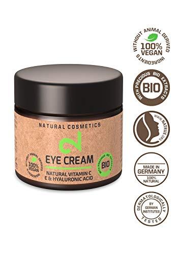 DUAL Crème pour les yeux | Crème pour les yeux 100% naturelle et végétalienne | Vitamine C et acide hyaluronique | Microalgues et brocolis | Contour des yeux | Hydratation et anti-âge | Certifié UE | 25m| Made in the EU
