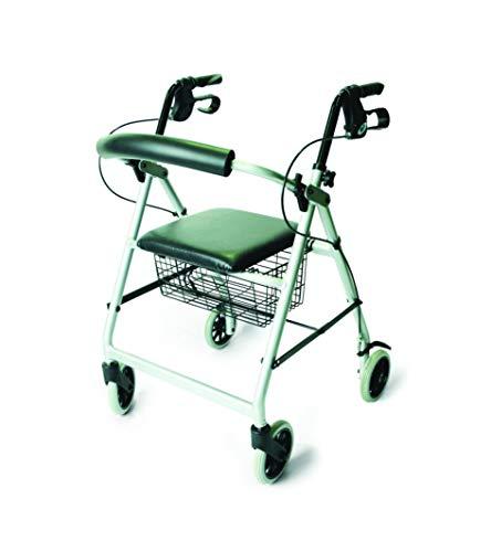 Patterson Medical - Marchette légère en aluminium avec roues, couleur grise