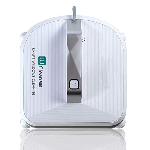 Novohogar Robot Nettoyeur de vitres W-Clean900, 75W, 70dB. Navigation intelligente. 3 modes de nettoyage, fonction de vidange et détecteur de cadre de fenêtre. Poignée puissante pour fenêtre aspirante