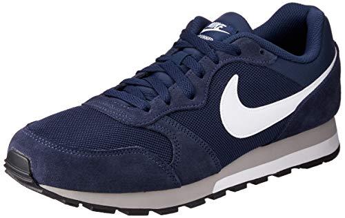 Nike MD Runner 2, Chaussures de course Hommes, Bleu (Midnight Navy/White-Wolf Grey), 42 EU