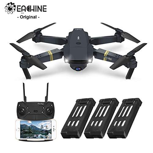 EACHINE E58 Drone avec caméra HD 2.0MP 720p Wide Angel Drone avec caméra professionnelle Drone Drone Professional Drone vidéo pour enfants Application WiFi pour iOS/Android (3 piles)