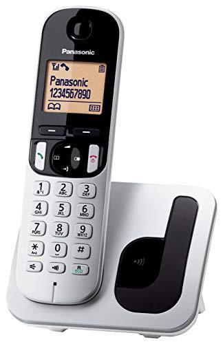 Panasonic KX-TGC210 - Téléphone fixe numérique sans fil, ACL 1,6 pi, gris et noir