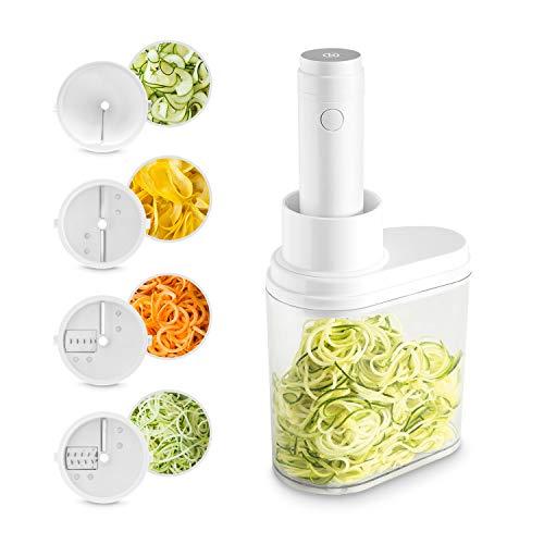 Coupe-légumes électrique en spirale | Coupe-légumes et coupe-fruits | Spiraliseur à légumes | Mandoline fruits | Spaghetti machine à pâte végétale