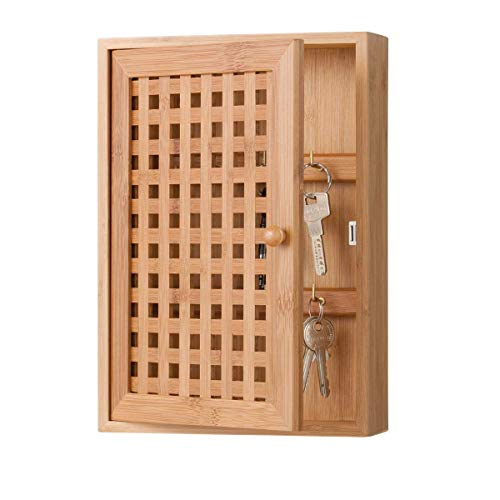 Armoire à clés Zeller 13876, bois, marron, 19x6x27 cm