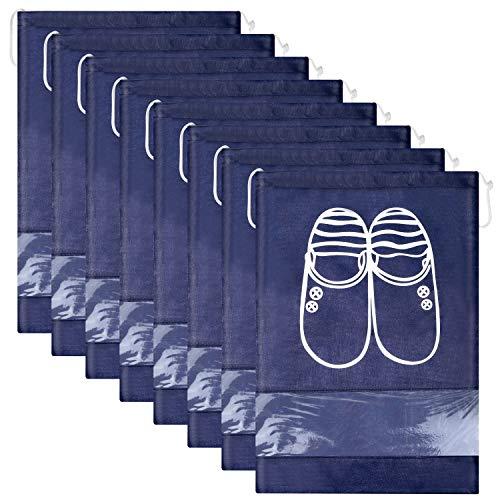Sacs à chaussures 12 pièces, anti-poussière multifonctions pour le voyage, sac étanche à l'eau Non-tissé avec fenêtre transparente