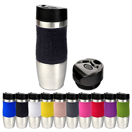 Tasse thermique Schramm en 10 couleurs Inclut un couvercle de recharge thermique (Environ 400 ML d'isolant thermique Tasse de voyage Tasse de voyage Tasse de voyage Tasse de voyage sans BPA Tasse de café à emporter Tasse de voyage sans BPA