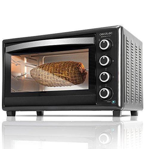Cecotec Bake&Toast 750 Four électrique de table multifonctions, 2000 W, 12 modes de cuisson, température jusqu'à 230ºC et durée jusqu'à 60 minutes, comprend Rustidor, 46 litres, noir