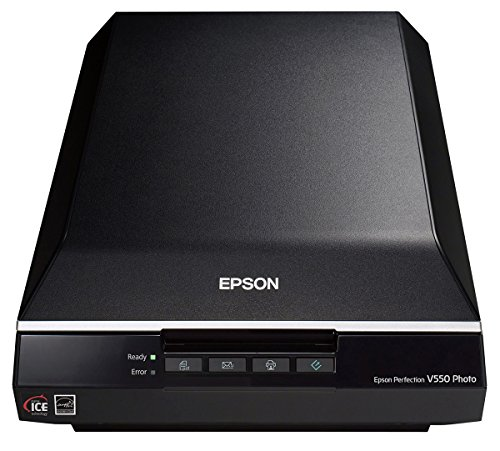 Epson Perfection V550 Photo - Scanner photo (USB 2.0, 6400 x 9600 DPI, 48 bits), noir