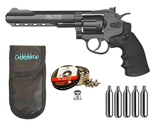 Outletdelocio. Revolver Perdigón Gamo PR-776. Calibre 4,5mm. + Corps de vérin + roulements à billes + vérins co2
