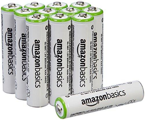 AmazonBasics AAA NiMH Batteries rechargeables préchargées (12 Pack, 800 mAh)