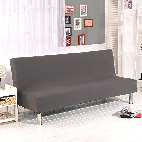 Housses de canapé sans accoudoirs, de couleur unie, en tissu polyester élasthanne, protecteur pour canapés-lits qui s'adapte sur un canapé-lit pliant sans accoudoirs.