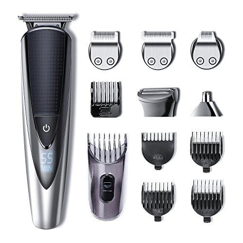 Rasoir de barbe et rasoir de précision Hatteker électrique pour hommes Tondeuse à cheveux professionnelle Rasoir de barbe et rasoir de précision pour hommes Rasoir sans fil sans fil rechargeable USB