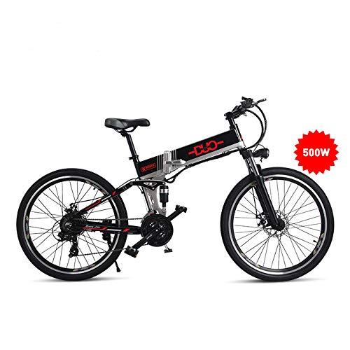 Gunai Electric Bike 48V 500W Vélo de montagne VTT 21 vitesses 26 pouces avec une nouvelle énergie amovible Batterie au lithium amovible