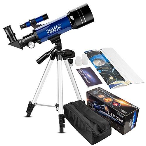 Télescope astronomique pour débutants, 70/360 avec grossissement 51-128x. Télescope portable avec trépied réglable