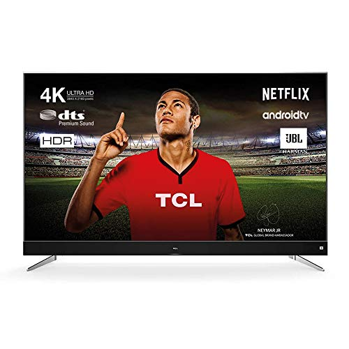 TCL U49C7006 TV TV 124 cm (49 pouces) Smart TV (4K, Android TV, HDR 10, Triple Tuner, Micro Dimming, Sound by JBL) Titanium