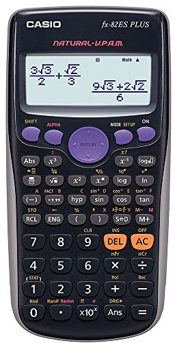 Casio FX-82ES - Calculatrice, 80 x 162 x 13,8 mm, noir