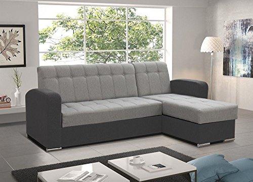Don Baraton anticrisisis.net Canapé-lit long avec poitrine - Salerno (Gris, Chaise Longue droite)
